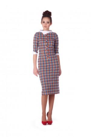 Lilo: Платье в клетку с белым воротником и манжетами 199 - главное фото