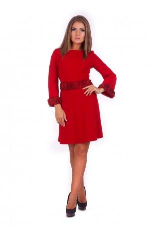 Lilo: Женственное красное платье трапеция 196 - главное фото