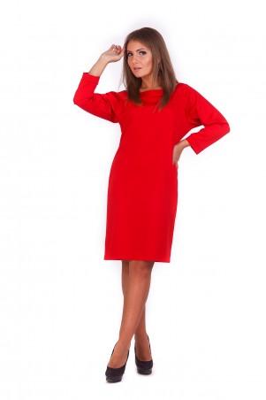 Lilo: Прямое красное платье с вырезом на спине 193 - главное фото