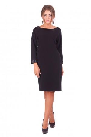 Lilo: Прямое черное платье с вырезом на спине 192 - главное фото