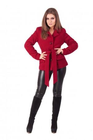 Lilo: Красное короткое кашемировое пальто 165 - главное фото