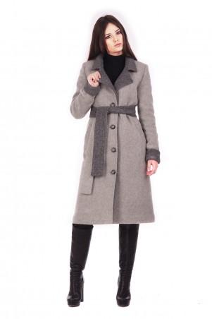 Lilo: Светло-серое пальто с серыми манжетами и воротником 171 - главное фото