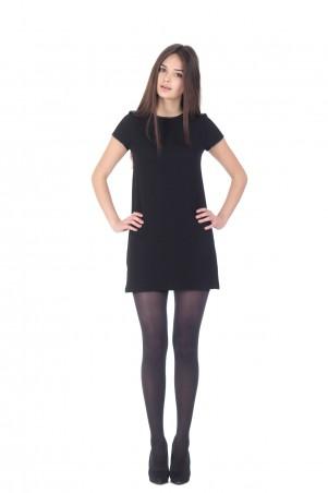 Lilo: Черное короткое платье-трапеция 154 - главное фото