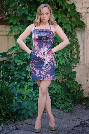 InRed: Белое корсетное платье 7011 - главное фото
