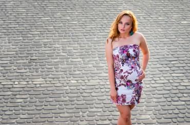InRed: Темно-синее корсетное платье 7012 - главное фото