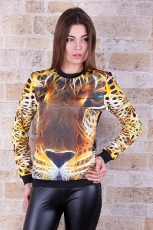 Glem: Кофта Леопард 3D  Свитшот №3 (весна) д/р - главное фото