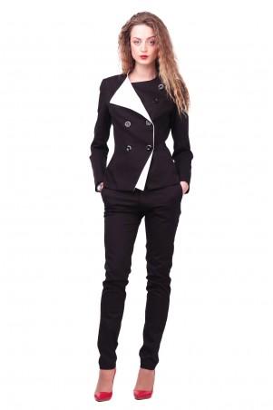 Lilo: Черный классический пиджак с белым воротником 404 - главное фото