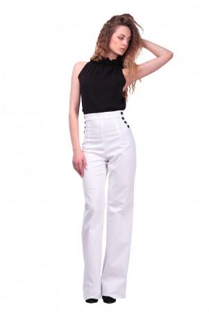 Lilo: Белые брюки клеш с завышенной талией 405 - главное фото
