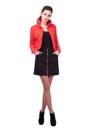 Lilo: Черная короткая юбка с молнией 417 - главное фото