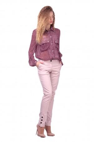 Lilo: Светлые брюки с черными пуговицами 422 - главное фото