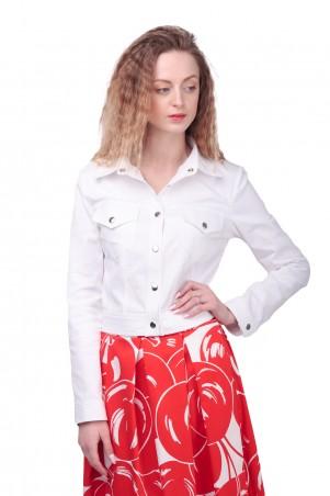Lilo: Белая короткая куртка на кнопках 425 - главное фото