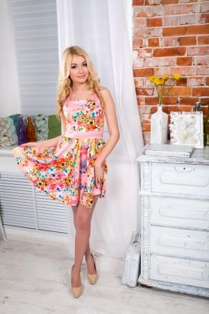 """InRed: Корсетное платье   """"Принцесса""""  персиковое 7107.0 - главное фото"""