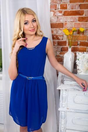 """Me&Me: Синее платье из шифона """"Адель"""" 7103.0 - главное фото"""