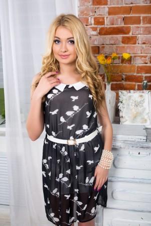 """Me&Me: Платье с воротничком  с узором из птичек """"Эмили"""" 7104.0 - главное фото"""