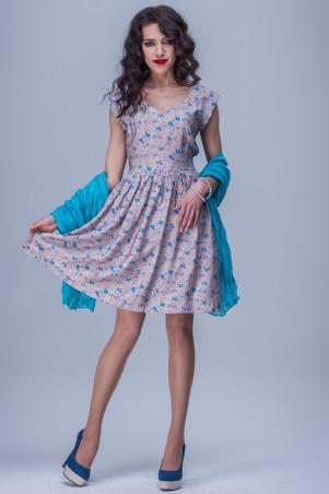 Jet: Платье ЛИЗА поплин Ситец какао 1119-4035 - главное фото