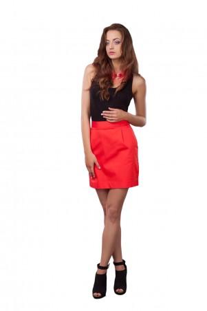 Lilo: Красная короткая юбка с пуговицами 0504 - главное фото