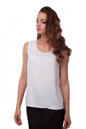 Lilo: Блузка белая без рукавов 0517 - главное фото
