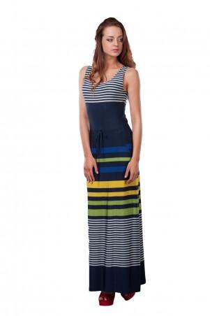 Lilo: Синее длинное платье в полоску 0521 - главное фото