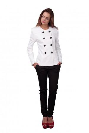 Lilo: Белый классический пиджак с черными пуговицамиo 0531 - главное фото