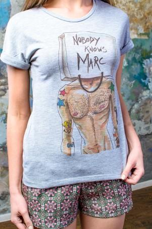 TessDress: Стильная футболка «Mark» Grey 5035 - главное фото