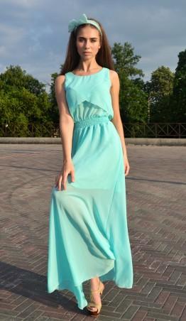 """TessDress: Шифоновое платье в пол """"Веста"""" Мята 1185 - главное фото"""