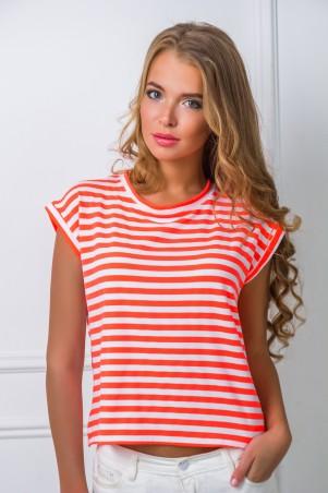 Zefir: Блуза в яркую полоску Лайма - главное фото