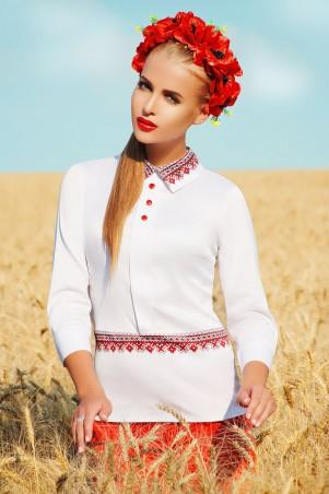 Glem: Блуза Узор красный  Василиса д/р - главное фото