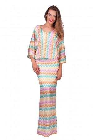 Lilo: Длинное платье летучая мышь расцветки миссони 0553 - главное фото