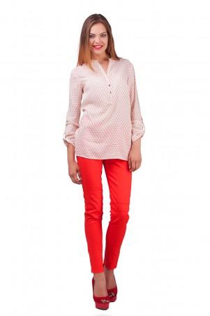 Lilo: Блузка с рукавами в красные сердечки 0561 - главное фото