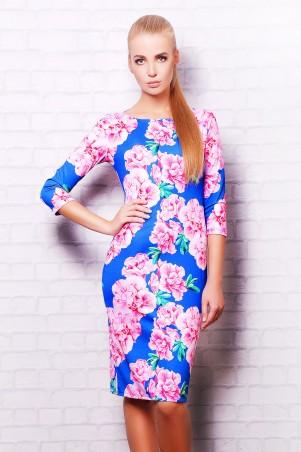 Glem: Платье Розовые цветы  Лоя-1 д/р - главное фото