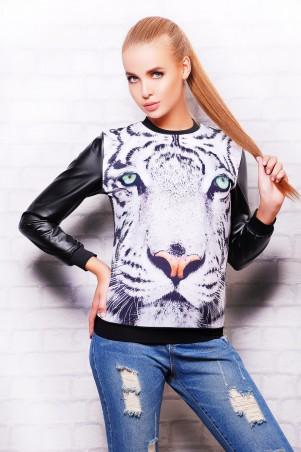 Glem: Кофта Белый тигр  Свитшот №4 (весна) д/р - главное фото