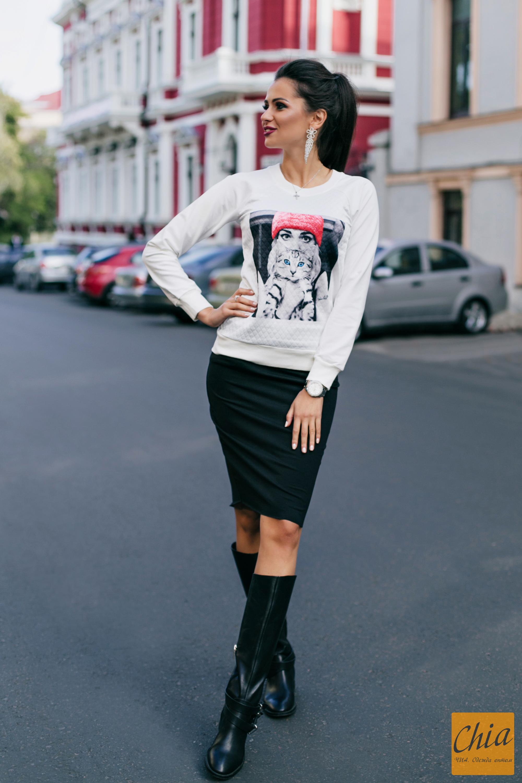 женщин: костюм юбка и свитшот УАЗик