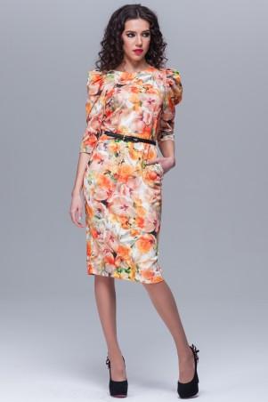 Jet: Платье ЕЛЕНА джерси принт Нарцисы 1093A-3028 - главное фото