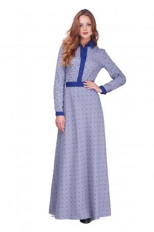 Lilo: Длинное синее платье в клетку 0598 - главное фото