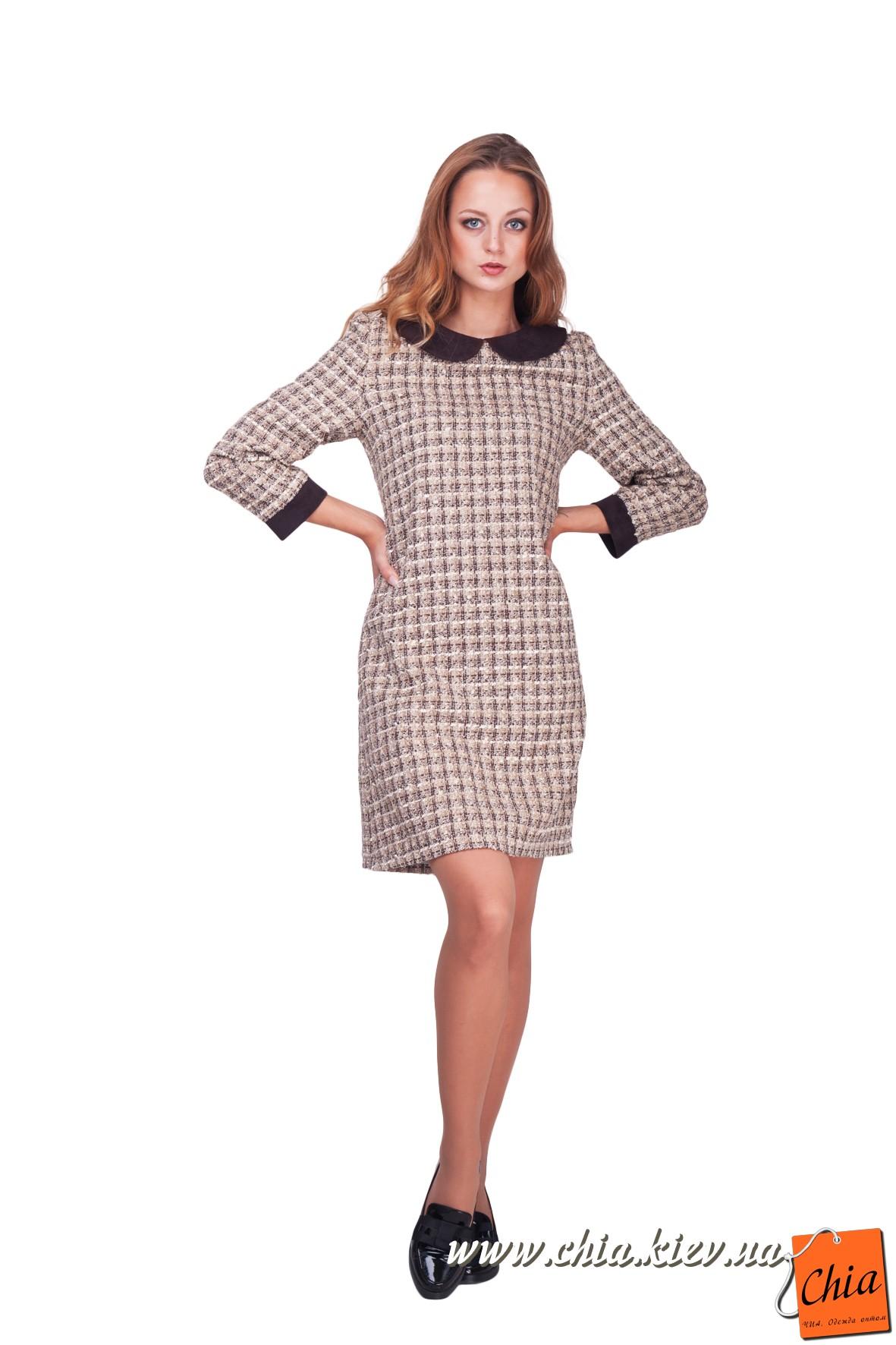 Платье с воротником и манжетами с доставкой