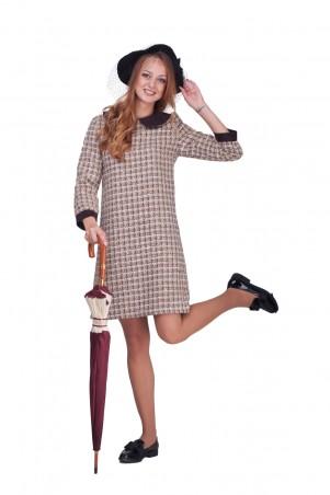 Lilo: Платье-трапеция с замшевыми воротником и манжетами 0588 - главное фото