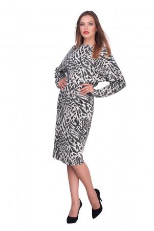 Lilo: Черно-белое платье летучая мышь 0584 - главное фото