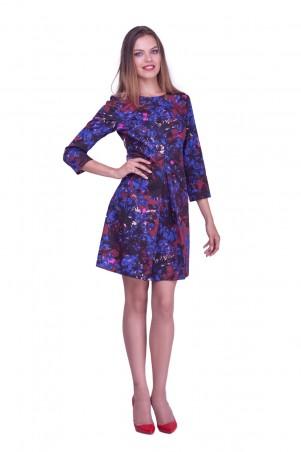 Lilo: Короткое платье-трапеция с принтом цветы 0586 - главное фото