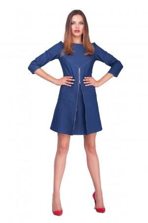 Lilo: Джинсовое платье-трапеция со складкой 0585 - главное фото
