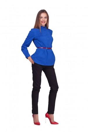 Lilo: Приталенная блуза цвета индиго на пуговицах 0597 - главное фото