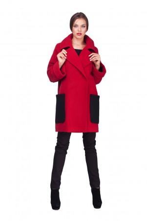 Lilo: Красное пальто с вязаными карманами 0578 - главное фото