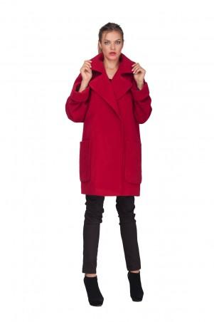 Lilo: Красное пальто с большим воротником и карманами 0577 - главное фото