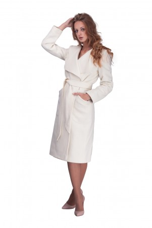 Lilo: Светлое пальто с лацканом 0618 - главное фото