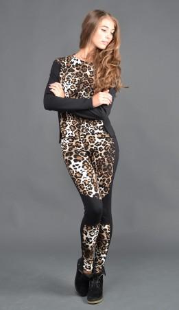 """TessDress: Женские леопардовые лосины """"Барс"""" 2056 - главное фото"""