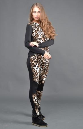 """TessDress: Женский леопардовый костюм """"Барс"""" 4024 - главное фото"""