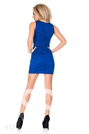 ISSA PLUS: Синее платье с боковыми прорезями 415_электрик - главное фото