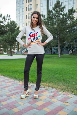 ISSA PLUS: Бежевый свитер Night Life 1073_бежевый - главное фото