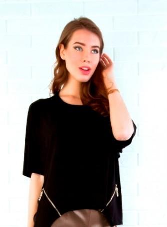ISSA PLUS: Коричневые кожаные шорты с кружевом 311_коричневый - главное фото