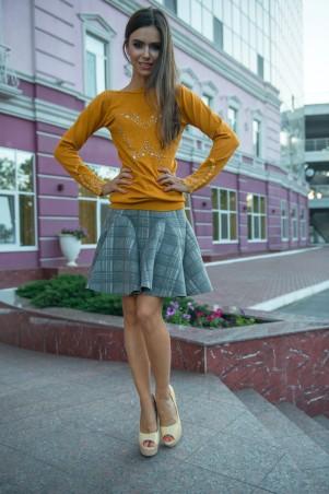 ISSA PLUS: Тонкий оранжевый свитер с аппликацией Бабочка 1080_оранжевый - главное фото