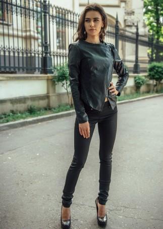 ISSA PLUS: Стильные черные леггинсы с задними кармашками 009_черный - главное фото